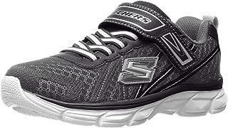 Skechers Kids 男孩 Advance-Hyper Tread 运动鞋,深灰色/黑色,美码 4 M 大童