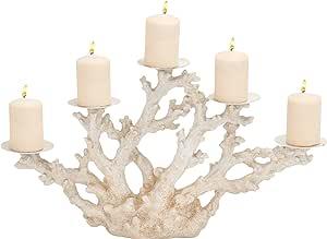 Plutus Brands 引人注目的聚石金属珊瑚烛台