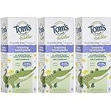 Tom's of Maine 幼儿无氟天然凝胶牙膏,温和水果口味,1.75 盎司/49.6克,3 支