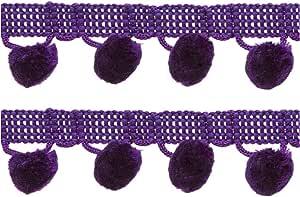 圆珠流苏 2.86 cm 宽 12 码草莓 2组 186 2390-064x2