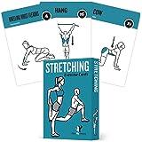 NewMe 健身拉伸弹性锻炼卡 - 50 个伸展练习 - 提高灵活性 - 防止肌肉应变,促进* + 加快恢复时间 - 大型,耐用的卡片