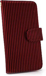 白色坚果条纹手机壳翻盖式 红×黑 4_ AQUOS PHONE SERIE mini SHL24