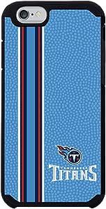 GameWear NFL 田纳西泰坦队垂直条纹球队颜色 NFL 橄榄球 One 6 手机壳,蓝色