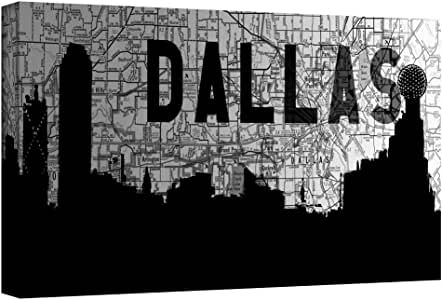 ArtWall 'Dallas' Gallery Wrapped Canvas Artwork by Art Sandcraft, 18 by 36-Inch