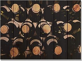 Gizaun Art 室内/室外墙壁艺术 葡萄* 33W x 24H in. 棕色 WC3324