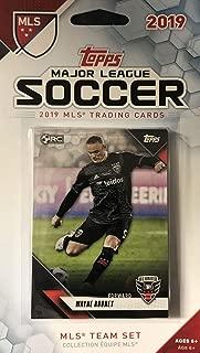 DC United 2019 Topps MLS 足球工厂密封 9 张卡片团队套装,含 Steve Birnbaum、Luciano Acosta 和 Wayne Rooney Plus