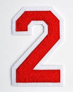 Varsity 字母贴片 11.43 cm 烫印热封或缝在上,绣有绳绒布的信封