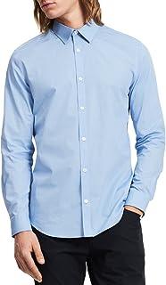 Calvin Klein 男士 Infinite Cool 条纹系扣衬衫