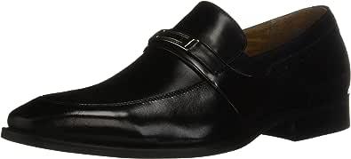 STACY ADAMS 男士 Shaw Moc Toe Bit 一脚蹬乐福鞋 黑色 14 M US