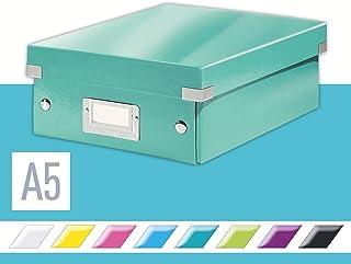 LEITZ 利市 Click&Store 附盖储物盒带格细 冰蓝 60570051