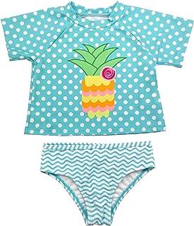 GRAPENT 女婴两件套长袖火烈鸟印花*服泳衣尺码 3-24M