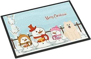 Caroline's Treasures BB2361JMAT 圣诞快乐卡罗来人经染色的室内或室外垫子,60.96 x 91.44 厘米,多色