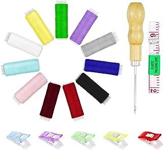 縫紉套件工具 Yotako 18 件縫紉線 DIY 手工縫制套件,帶縫紉夾和縫紉用的軟膠帶測量,初學者基本工具