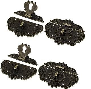 Uxcell a15123000ux0676 复古风格木质手机壳胸盒扣带闩锁