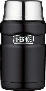 Thermos 膳魔師 帝王系列 24盎司 不銹鋼旅行食物保溫罐 磨砂黑