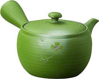 YAMAKI 常滑烧 竹春 碗大碗 茶壶 绿泥 三叶草