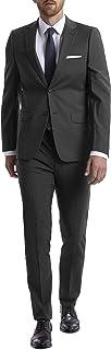 Calvin Klein 男式修身弹力西装外套 炭黑色 38 Regular