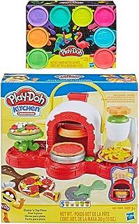 Play Doh Stamp 'n Top 披萨烤箱玩具 + Play Doh 8 件装霓虹彩泥