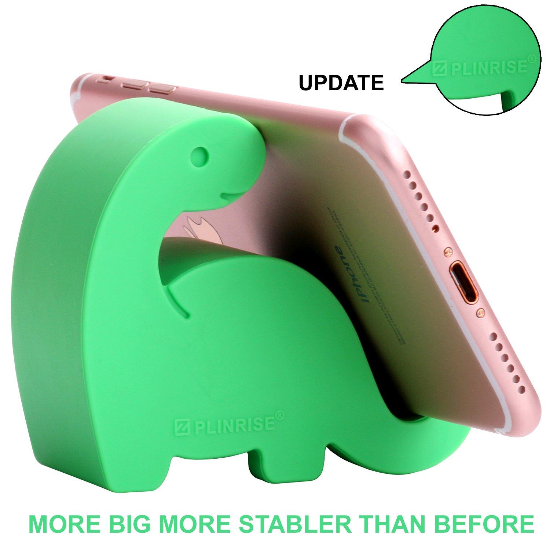 腰動物卓上電話ホルダー、シリコーン更新恐竜縞模様のオフィスの電話ホルダー創造的な携帯電話のタブレットスタンド、サイズ:3.30センチメートルX 7.11 cm17-1-恐竜電話セット紺、緑、緑X 7.11センチメートル