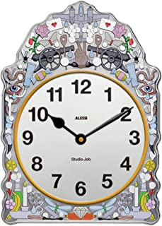 Alessi SJ01 漫画挂钟,镀锡带装饰