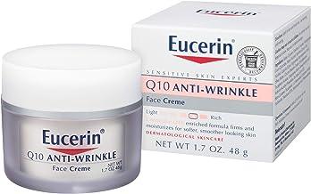 Eucerin 優色林 Q10 抗皺面霜-無香料,滋潤,使肌膚更柔滑-1.7盎司(48g)(1件裝)
