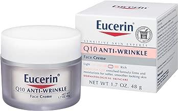 Eucerin 优色林 Q10 抗皱面霜-无香料,滋润,使肌肤更柔滑-1.7盎司(48g)(1件装)