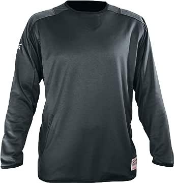 Easton Alpha 抓绒套头衫 | 2020 | 青少年 S/M | 炭灰色 | 中等重量,柔软羊毛,弹性通风移动设计,完美适合穿着制服或打底层