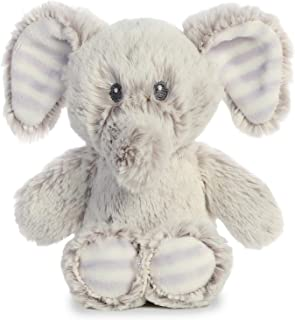 Aurora World 毛绒动物摇铃 Elvin 大象 6.5 英寸高