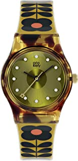 Orla Kiely 奥拉·凯利 女式模拟石英手表塑料表带 OK2322