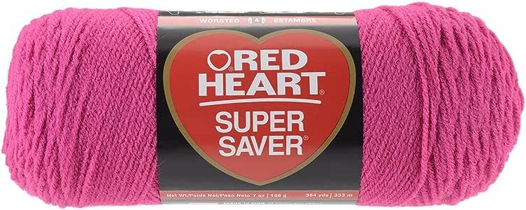 RED HEARTSuper Saver Yarn, Shocking Pink