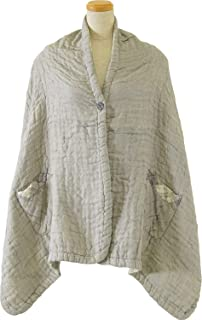 内野(UCHINO) TOWEL GALLERY 棉花糖华夫格纱布 带口袋 毛毯 约60×180cm 灰色 3010AL43 Gy