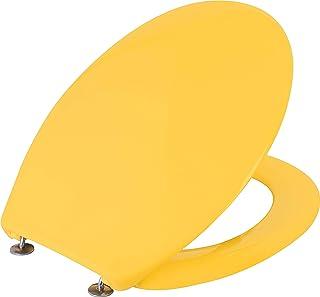Cornat 马桶座圈 Cetina - 简洁的咖喱黄色 - 易于护理的Duroplast - 纯色设计适用于任何浴室/马桶座/马桶盖/KSCET21