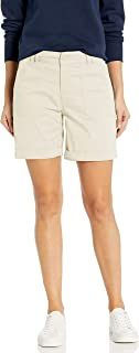 LEE 女式常规版型实用斜纹休闲短裤