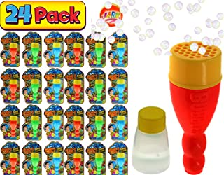 JA-RU Grab a Bubble Storm 可触摸泡泡吹玩具(24 件装)I Hundred of Touch Bubbles Soap Solution Toy Favors I Party Favor Pinata 填充散装 150...