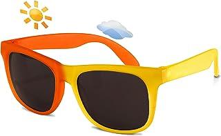 Real 儿童墨镜开关变色太阳镜适用于幼儿儿童青年–100% UVA UVB 保护 shatterproof 聚碳酸酯镜片