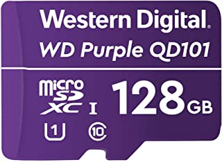 Western Digital WD 西部数据 紫色 SC QD101 128 GB microSDXC 超耐力,速度等级10,UHS 速度等级 1 U1