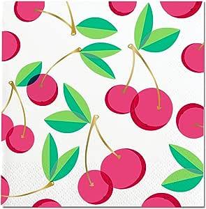 Slant Cocktail 饮料餐巾 12.7 厘米方形 20 件套 红色 10-04606-009