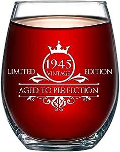 生日 453.59 克不锈钢*杯 - 复古做旧完美 - 送给*好的朋友、妈妈、爸爸、妻子、丈夫、姐妹、女士、男士的独特周年纪念礼物 - 完美礼物 1944 Limited Edition