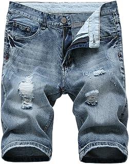 latud 男式休闲牛仔短裤