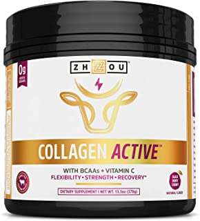 Zhou Nutrition Collagen Active, Black Berry Cherry, 13.3 Ounce
