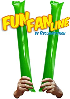 趣味风扇线 - 100 对竹制薄条. 体育赛事的Noise Makers Boom Sticks for Cheerleading。 体育场或派对的噪音棒。