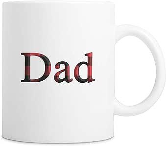 Dad 咖啡杯,Buffalo Plaid,325ml Dad, English 11oz