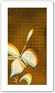 Art Wall Jan Weiss Expresso Floral II Unwrapped Flat Canvas Art, 28 by 16-Inch