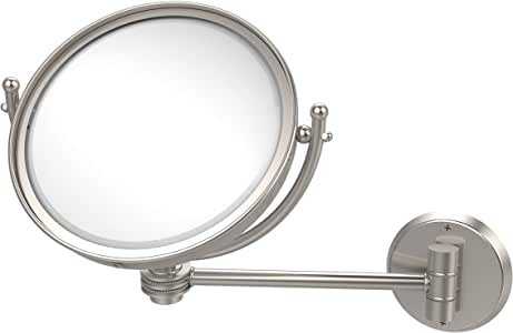 Allied Brass 化妆镜带 3X 放大 亮灰色(Satin Nickel) WM-5D/3X-SN