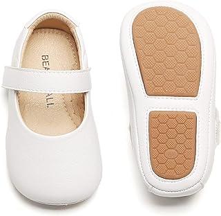 Bear Mall 女嬰鞋軟底幼兒芭蕾平底鞋嬰兒步行鞋