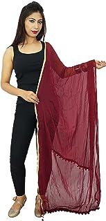 雪纺混纺长披肩印度女式杜帕塔领围巾男女老式礼物