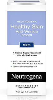 Neutrogena 露得清 健康肌膚 抗皺夜間保濕霜,含有視黃醇,維生素E,維生素B5,甘油,1.4盎司(40g)