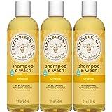 Burt's Bees 婴儿洗发水&沐浴露,原味,12盎司(350ml),3瓶装