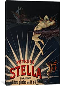 iCanvasART 5089-1PC3-12x8 Patrole Stella French Lighting Oil Vintage Advertising Poster Canvas Print by Unknown Artist, 0.75 x 8 x 12-Inch