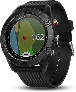 GARMIN 佳明 APPROACH S60高尔夫 GPS 腕表,黑色皮质表带 1.2 英寸(约 3 厘米) black silicone band 1.2 inches